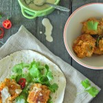Carrot and Coriander Falafel with lemon tahini sauce