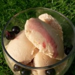 Peach and Prosecco Ice Cream