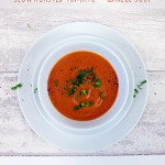 slow roasted tomato and garli soup